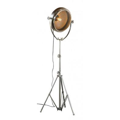 Lampadaire argenté design en acier   L. 50 x P. 50 x H. 180 cm collection Hake