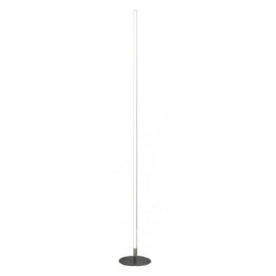 Lampadaire argenté design en acier L. 20 x P. 20 x H. 160 cm  collection Hogeveen