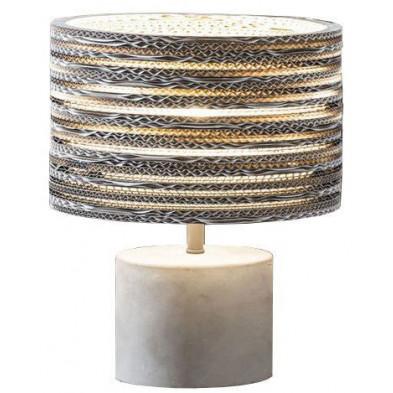 Lampe à poser blanc design en béton L. 28 x P. 28 x H. 35 cm  collection Brake