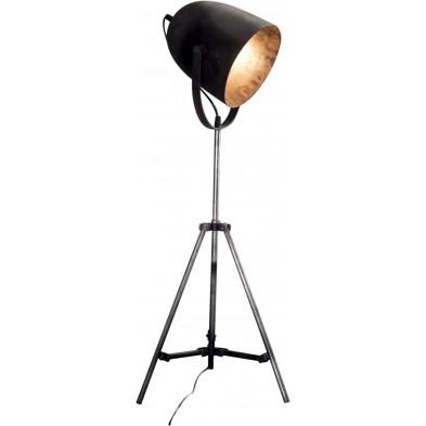 Lampadaire argenté design en acier L. 38 x P. 38 x H. 85 cm  collection Faris