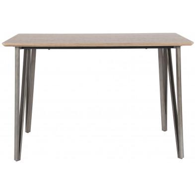 Table de bar marron design en acier et bois mdf  L. 140 x P. 70 x H. 92 cm  en collection Bernau