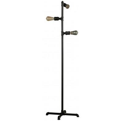 Lampadaire noir industriel en acier  L. 35 x P. 35 x H. 160 cm collection Canonstown