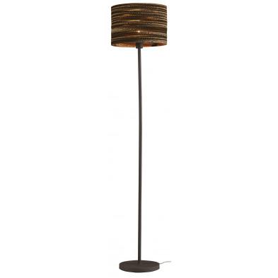Lampadaire marron design en  acier et carton L. 35 x P. 35 x H. 164 cm collection Barlay