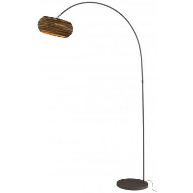 Lampadaire marron design  en acier et carton L. 35 x P. 10 x H. 20 cm collection Nelleke