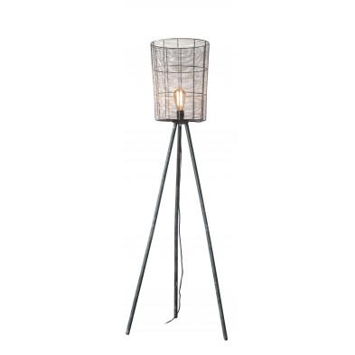 Lampadaire gris vintage en acier L. 60 x P. 60 x H. 150 cm  collection Emanuela