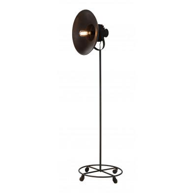 Lampadaire marron design en acier L. 45 x P. 45 x H. 170 cm collection Vangebel