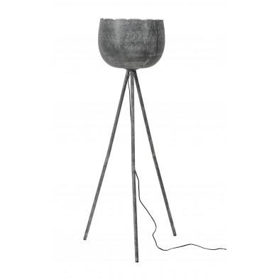 Lampadaire argenté design en acier L. 56 x P. 56 x H. 130 cm  collection Budak