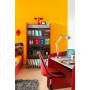 Bureau enfant rouge classique en panneaux de particules mélaminés de haute qualité 104 cm de largeur collection Guimaraes