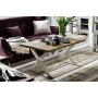 Composition salle à manger contemporaine en bois pin massif coloris gris et marron collection Pomaia