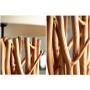 Lampadaire design bois flotté 180 cm coloris blanc collection Ildghao